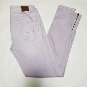 American Eagle Lilac Jeggings w/ Ankle Zippers
